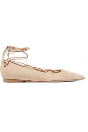 MICHAEL KORS COLLECTION Kallie suede point-toe flats
