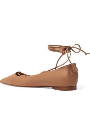 MICHAEL KORS COLLECTION Kallie leather point-toe flats