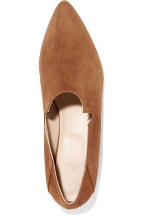 IRIS & INK Suede point-toe flats
