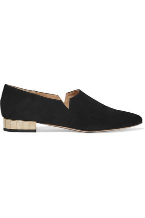 IRIS AND INK Suede point-toe flats