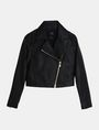 ARMANI EXCHANGE EMBOSSED CROPPED MOTO JACKET PU Woman b