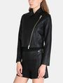 ARMANI EXCHANGE EMBOSSED CROPPED MOTO JACKET PU Woman d