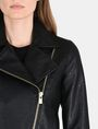 ARMANI EXCHANGE EMBOSSED CROPPED MOTO JACKET PU Woman e