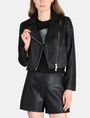 ARMANI EXCHANGE EMBOSSED CROPPED MOTO JACKET PU Woman f