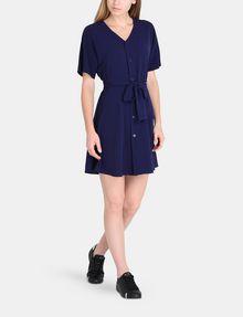 ARMANI EXCHANGE TIE-WAIST WING DRESS Mini dress Woman a