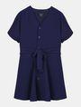ARMANI EXCHANGE TIE-WAIST WING DRESS Mini dress Woman b