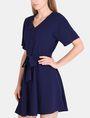 ARMANI EXCHANGE TIE-WAIST WING DRESS Mini dress Woman d