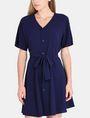 ARMANI EXCHANGE TIE-WAIST WING DRESS Mini dress Woman f