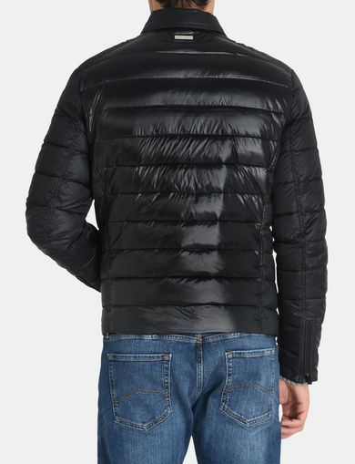 QUILTED DOWN-FILL MOTO JACKET