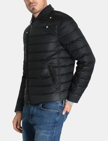 ARMANI EXCHANGE QUILTED DOWN-FILL MOTO JACKET PUFFER JACKET Man d