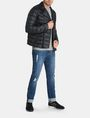 ARMANI EXCHANGE QUILTED DOWN-FILL MOTO JACKET PUFFER JACKET Man a