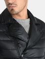 ARMANI EXCHANGE QUILTED DOWN-FILL MOTO JACKET PUFFER JACKET Man e