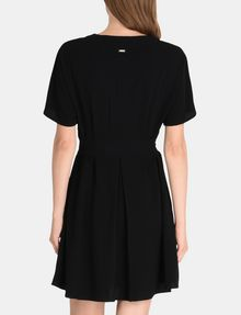 ARMANI EXCHANGE TIE-WAIST WING DRESS Mini dress Woman r