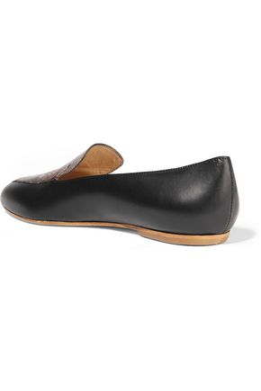 ATP ATELIER ALL TOMORROW'S PARTIES Greta paneled leather point-toe flats