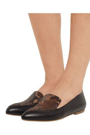 ATP ATELIER ALL TOMORROW'S PARTIES Greta paneled leather point-toe flats