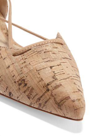 SCHUTZ Neida cork point-toe flats