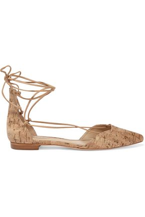 SCHUTZ Neida cork point-toe flats