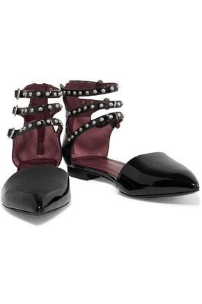 MARC BY MARC JACOBS Studded patent-leather sandals