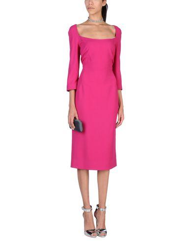 Фото 2 - Платье длиной 3/4 цвета фуксия
