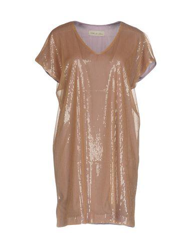 Купить Женское короткое платье  светло-коричневого цвета