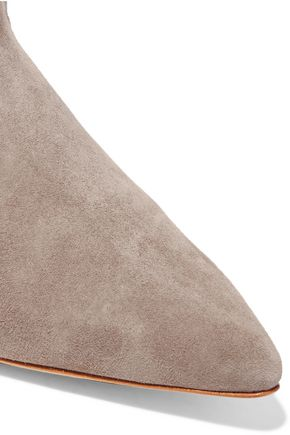 SCHUTZ Teodora cutout suede point-toe flats