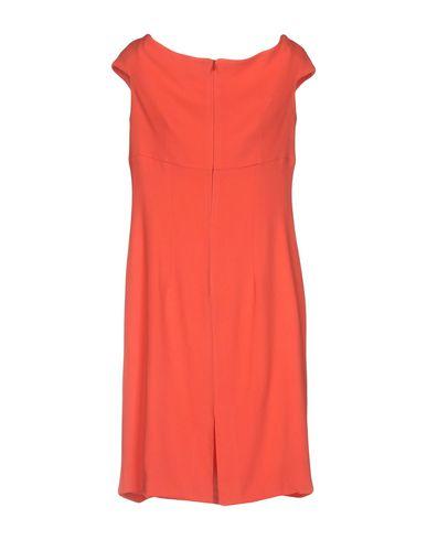 Фото 2 - Женское короткое платье CAPUCCI кораллового цвета