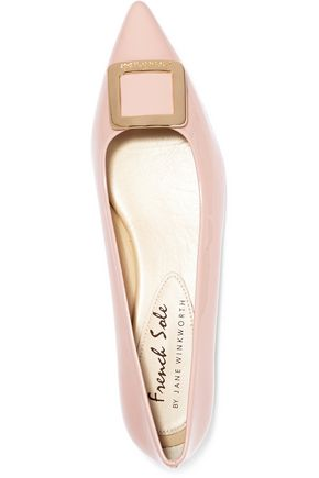 FRENCH SOLE Penelope buckled patent-leather point-toe flats