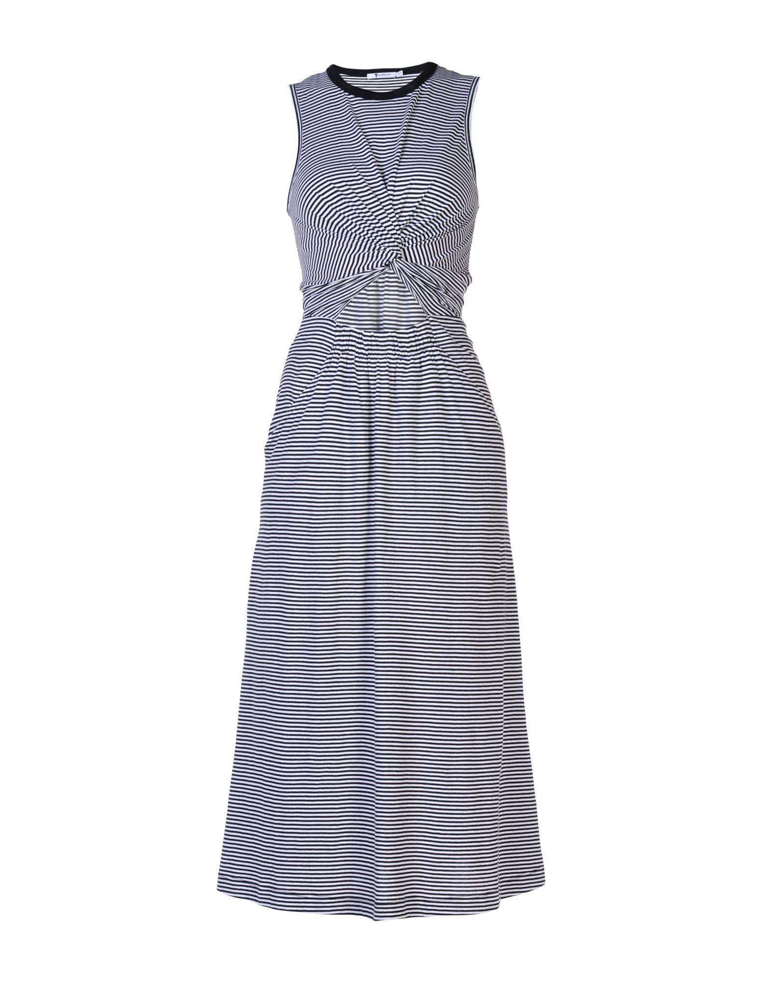 T by ALEXANDER WANG Платье длиной 3/4 t by alexander wang короткое платье в полоску