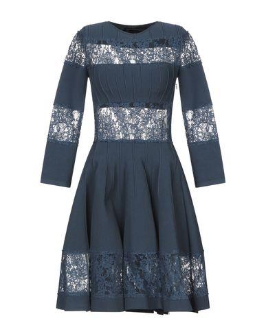 Фото - Женское короткое платье  грифельно-синего цвета