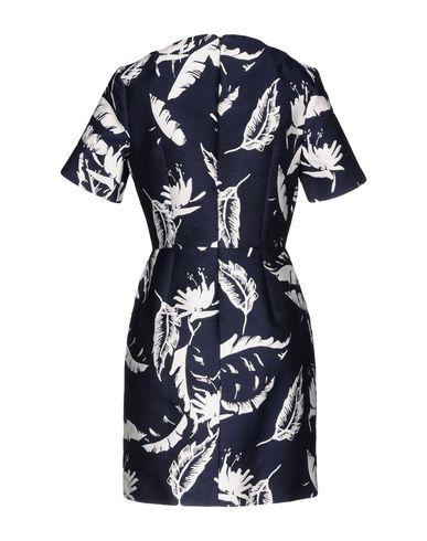Фото 2 - Женское короткое платье ADAM LIPPES темно-синего цвета