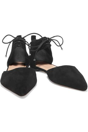 ZIMMERMANN Nubuck point-toe flats