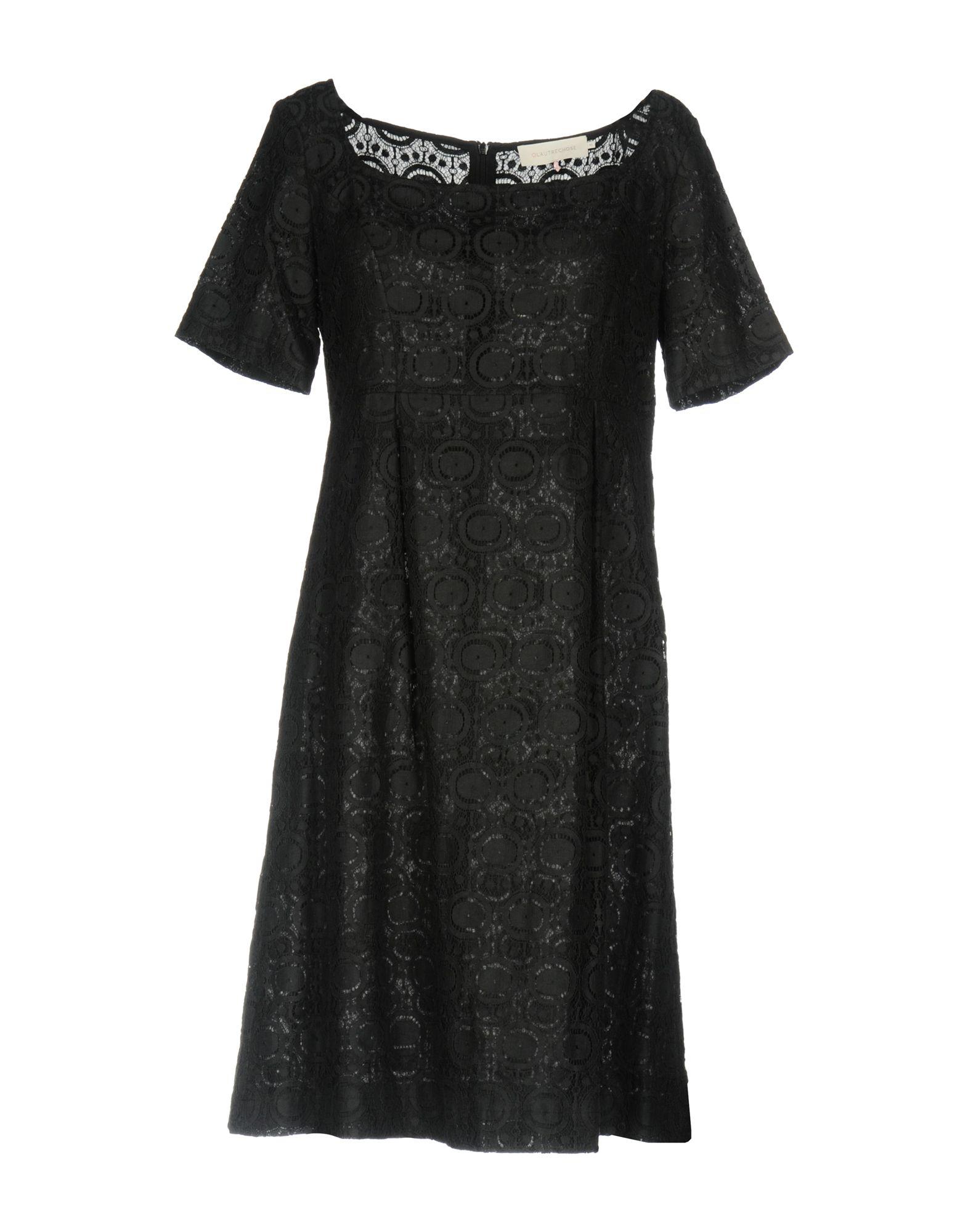 L´ AUTRE CHOSE Damen Kurzes Kleid Farbe Schwarz Größe 4