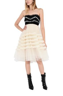 PHILOSOPHY di LORENZO SERAFINI Strapless lace dress Short Dress D a