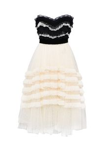 PHILOSOPHY di LORENZO SERAFINI Strapless lace dress Short Dress D f
