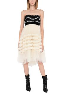 PHILOSOPHY di LORENZO SERAFINI Strapless lace dress Short Dress Woman r