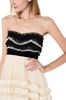 PHILOSOPHY di LORENZO SERAFINI Strapless lace dress Short Dress D e