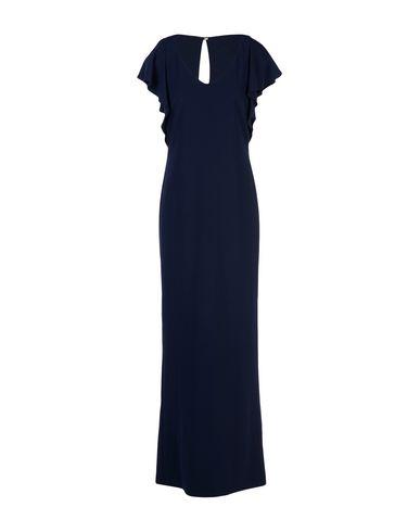 Купить Женское длинное платье  темно-синего цвета
