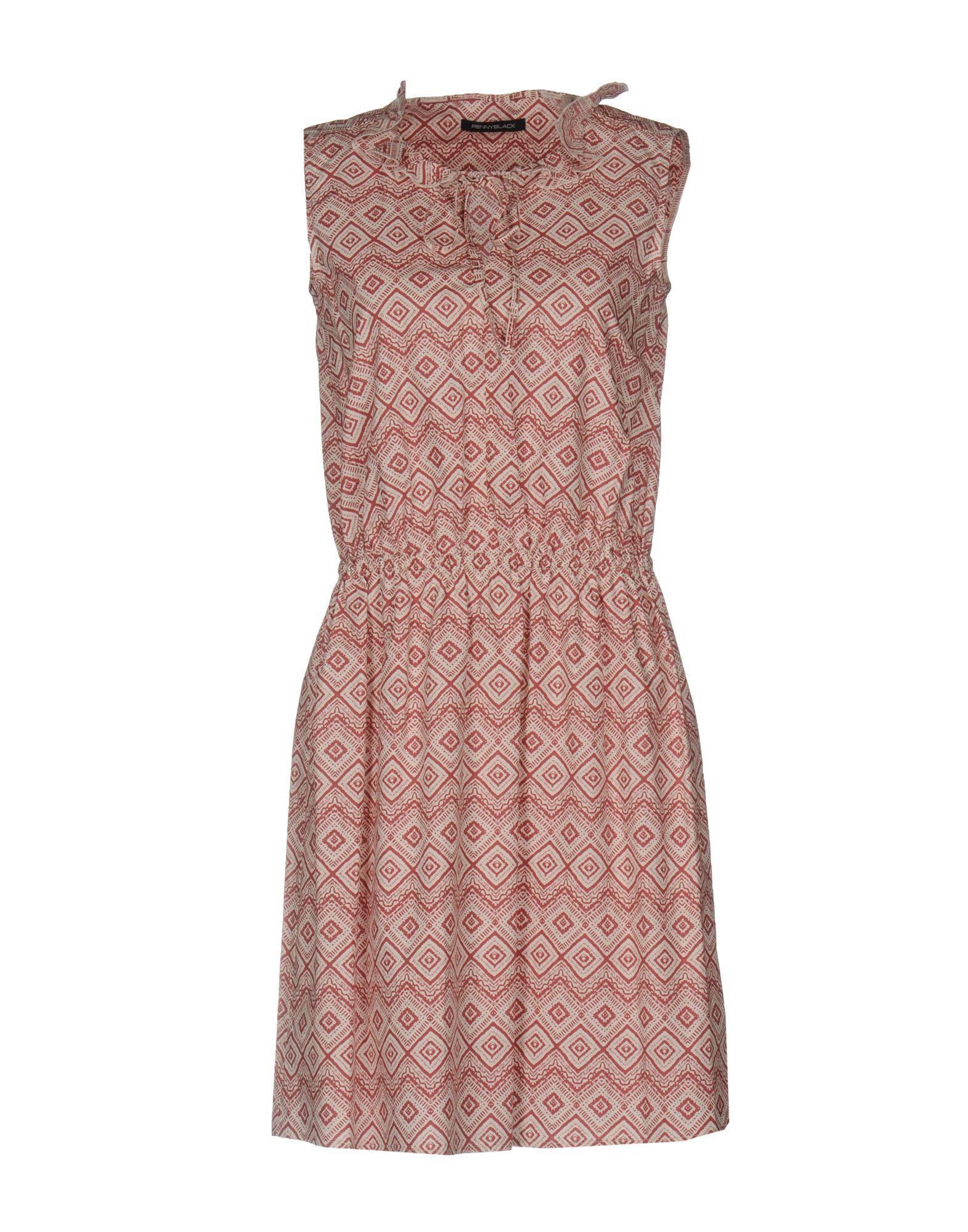 PENNYBLACK Damen Kurzes Kleid Farbe Purpur Größe 6