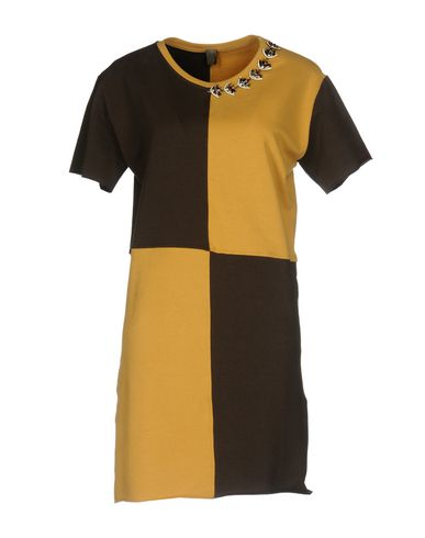 Фото - Женское короткое платье JIJIL цвет охра