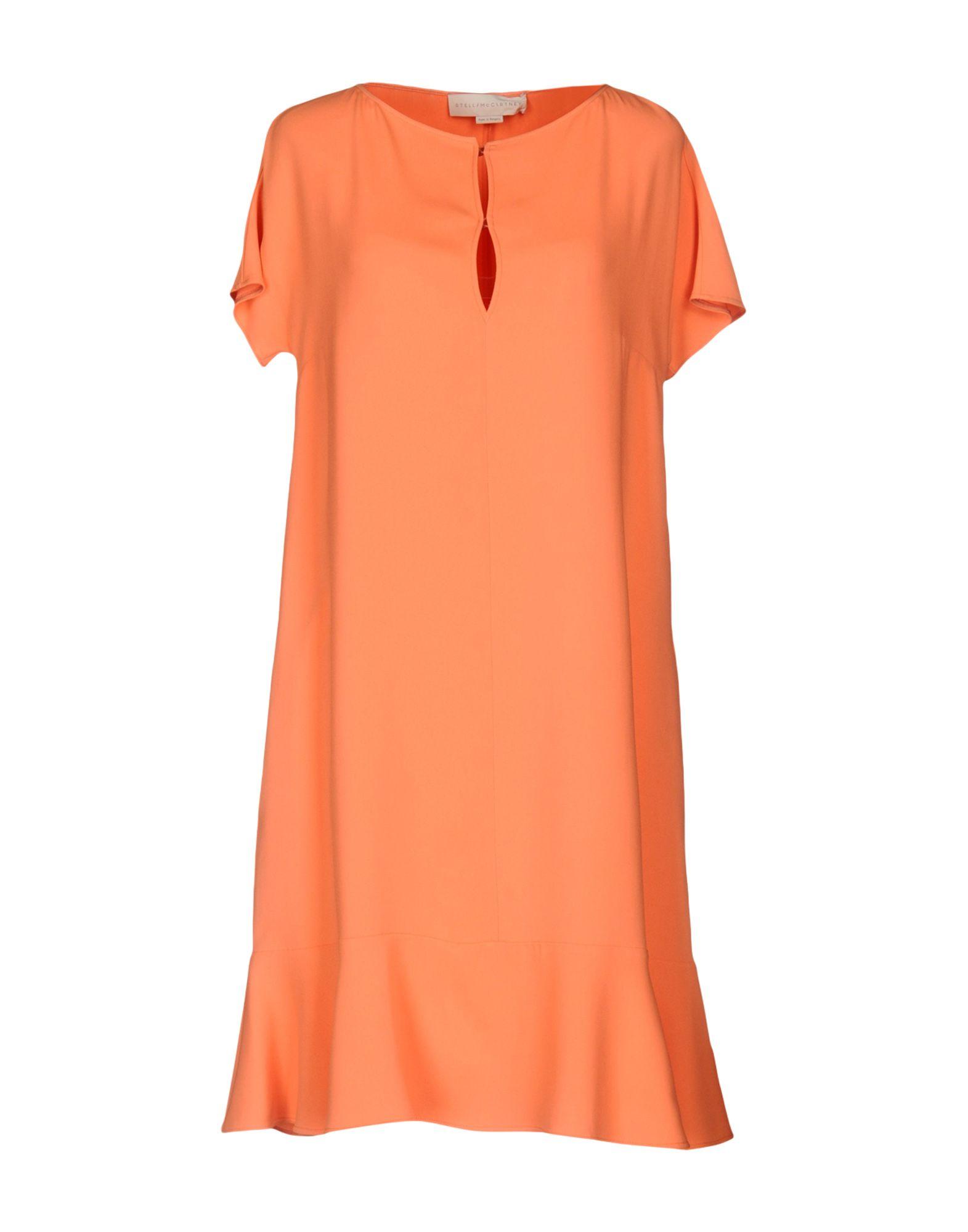 《セール開催中》STELLA McCARTNEY レディース ミニワンピース&ドレス あんず色 42 64% レーヨン 32% アセテート 4% ポリウレタン