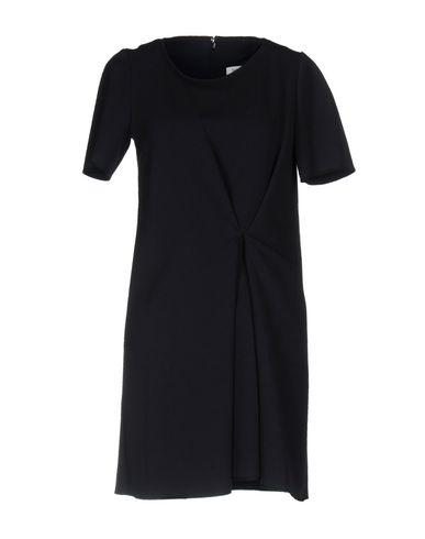 Фото - Женское короткое платье  темно-синего цвета