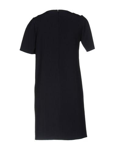 Фото 2 - Женское короткое платье  темно-синего цвета
