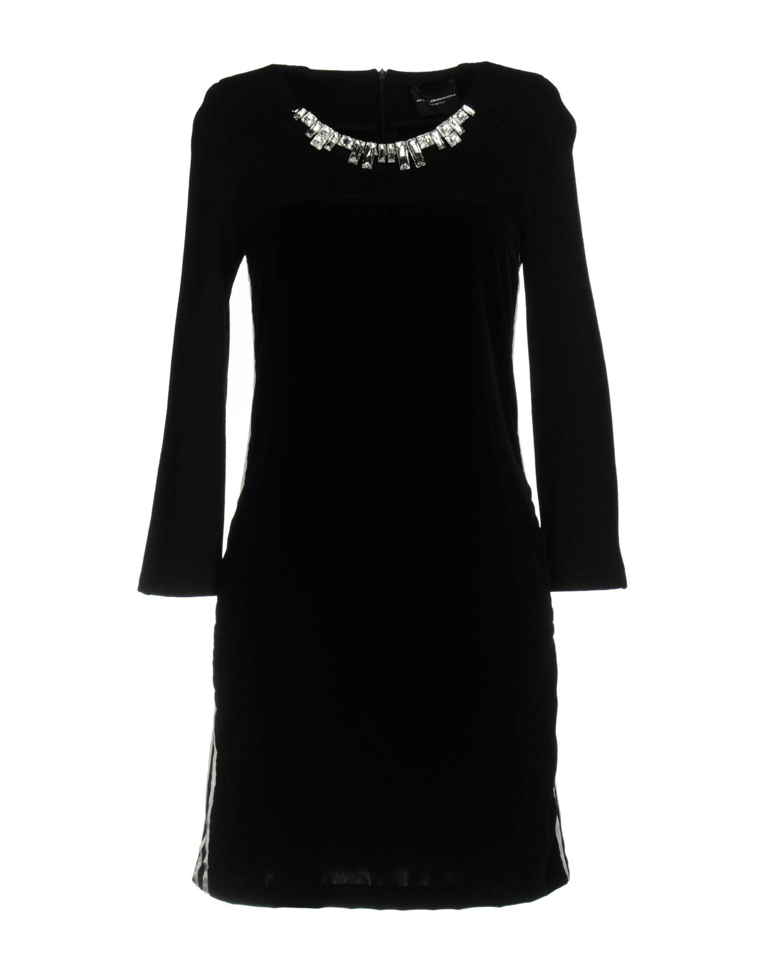 ATOS LOMBARDINI Short Dress in Black