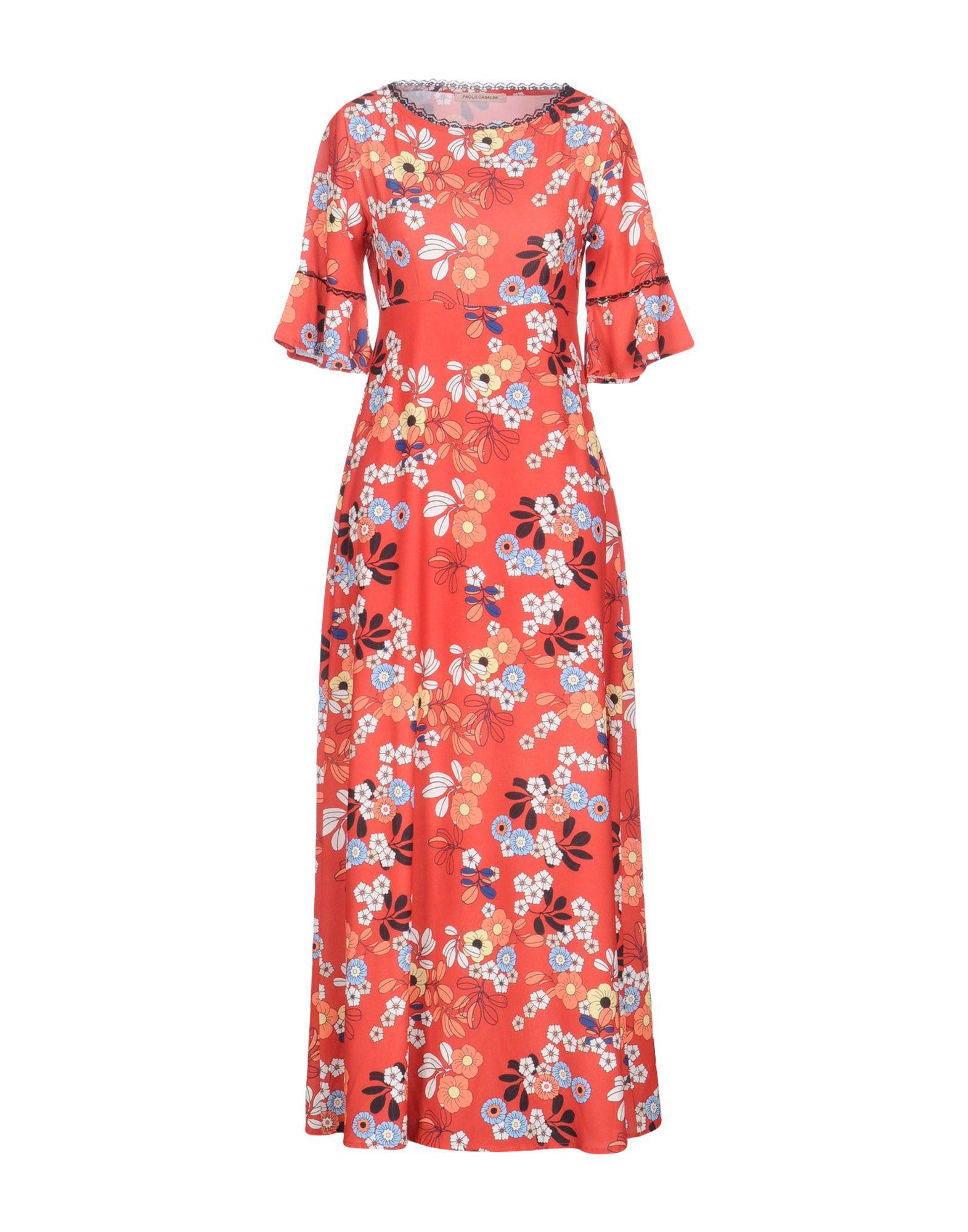 PAOLO CASALINI Длинное платье paolo casalini комбинезоны без бретелей