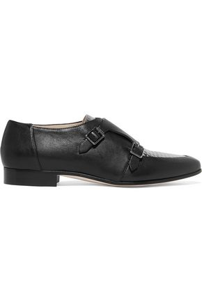 JIMMY CHOO Mardi paneled leather brogues