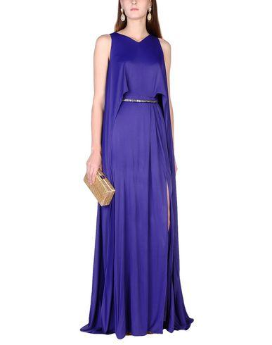 Фото 2 - Женское длинное платье  фиолетового цвета