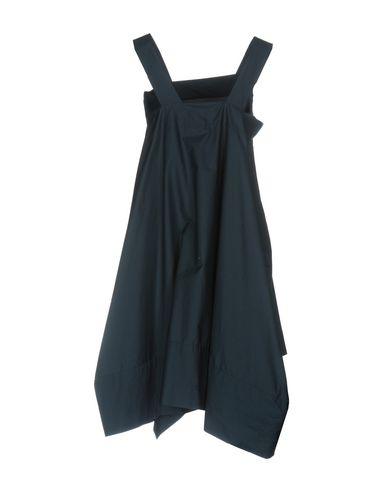 Фото 2 - Женское короткое платье VIRNA DRÒ® темно-синего цвета