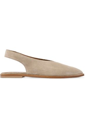 ATP ATELIER Bee suede slingback point-toe flats