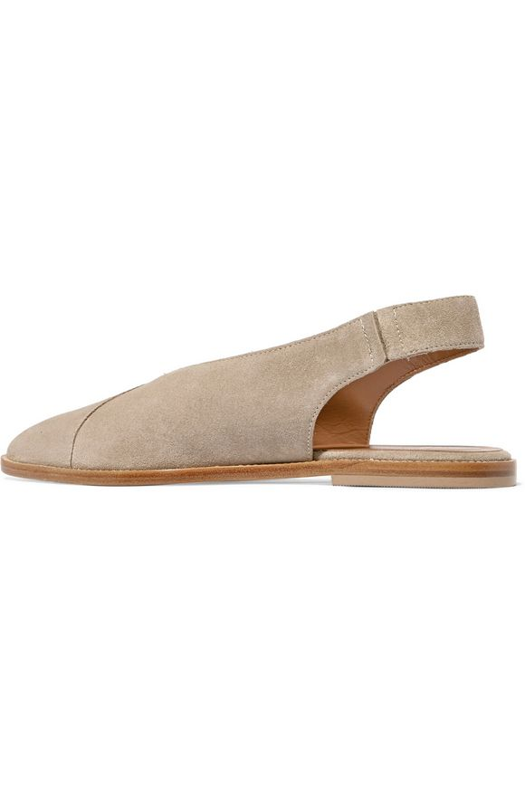 Bee suede slingback point-toe flats | ATP ATELIER | Sale up to 70% off |  THE OUTNET