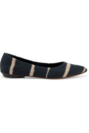 PROENZA SCHOULER Printed canvas point toe flats